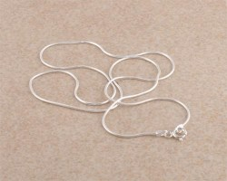1mm thickness sterling silver snake chain