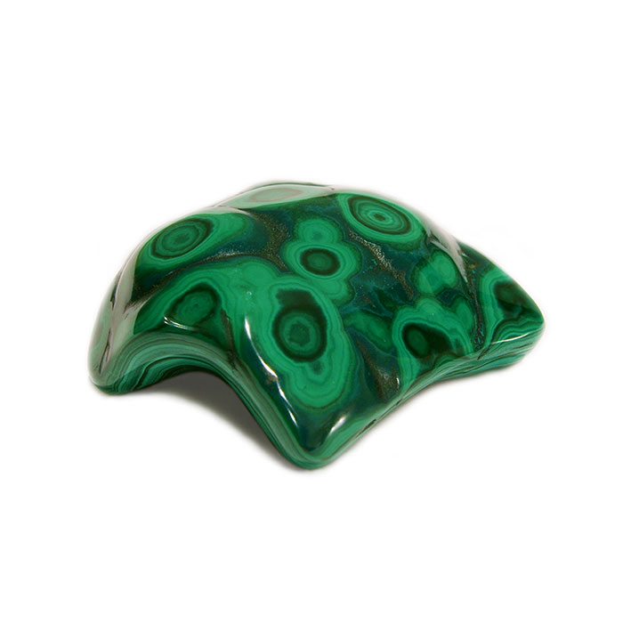 polished green malachite mineral
