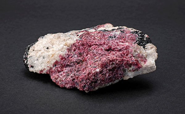 rough eudialyte mineral specimen