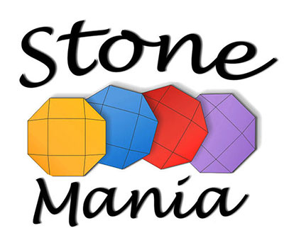 Company logo featuring four colourful octagons between the words Stone and Mania