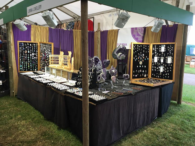 jewellery retail stand at a county show