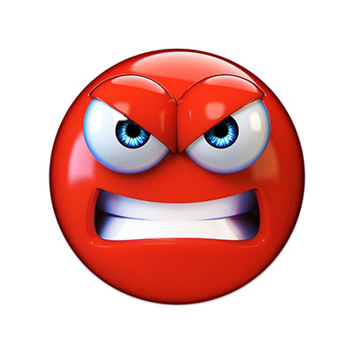 angry emoji face with fierce eyes and gritted teeth