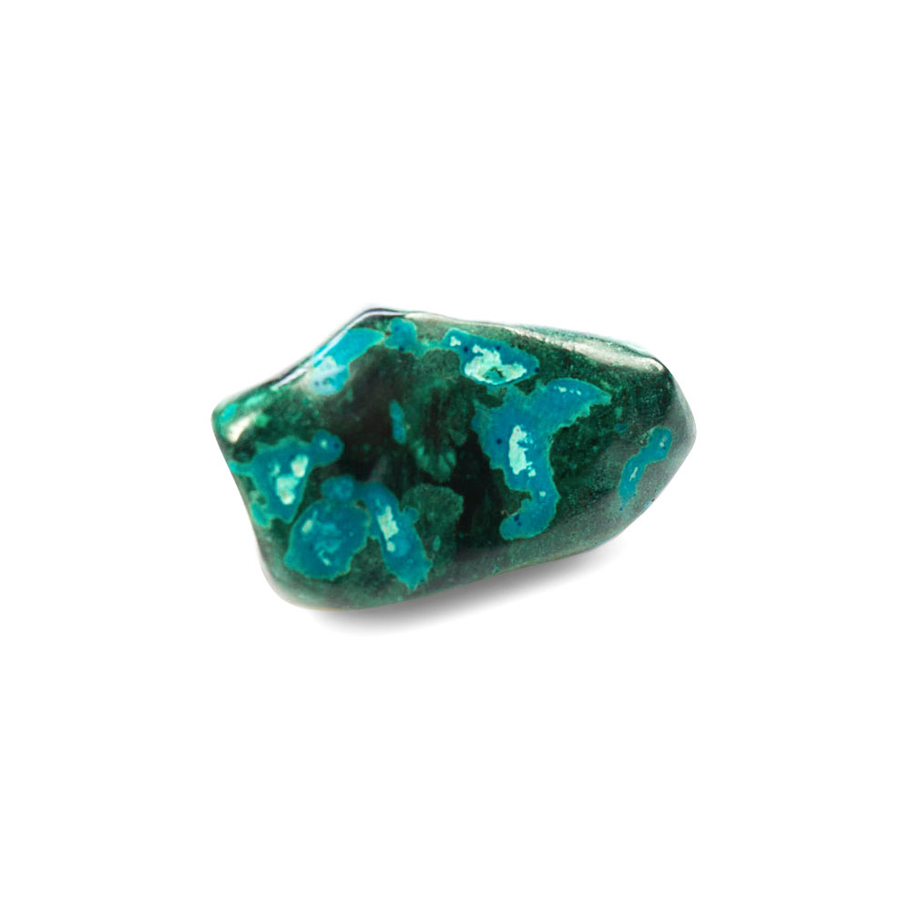 polished chrysocolla mineral