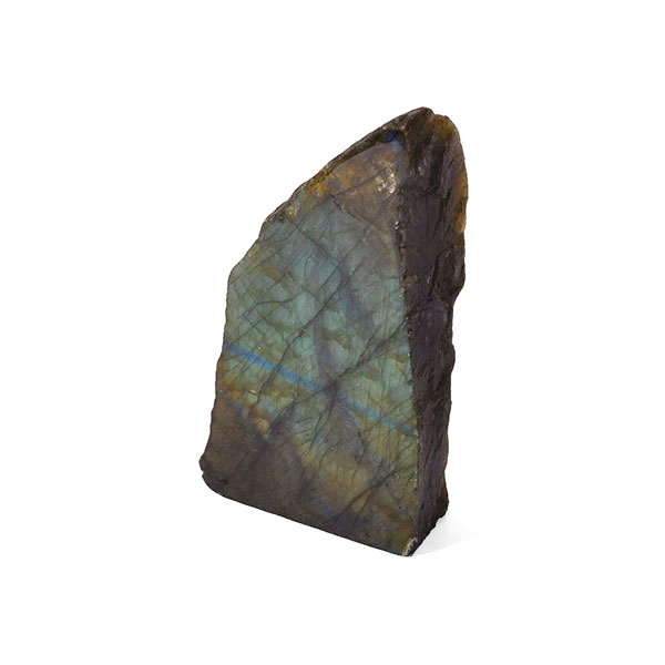 part polished labradorite rock