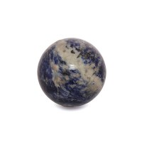 large blue and white sodalite sphere polished mineral