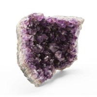 purple amethyst quartz geode featuring large translucent crystals