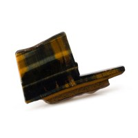polished slice of the mineral black tigers eye