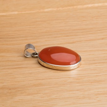 carnelian pendant crafted in sterling silver