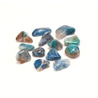 blue coloured chrysocolla tumbled stones