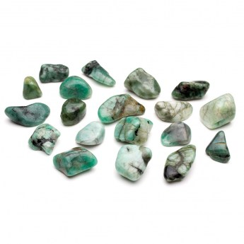polished emerald tumbled crystals