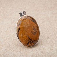 polished gemstone crafted as a ladies pendant in sterling silver