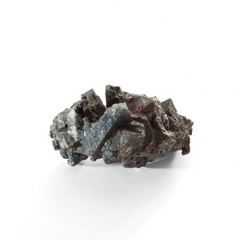 dark gun metal grey coloured hematite mineral specimen