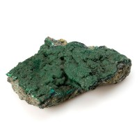 rough piece of the green coloured mineral malachite
