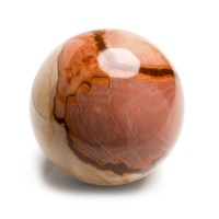 large and highly polished mookaite sphere