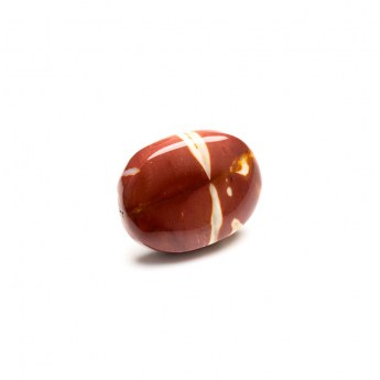 oval shaped polished mookaite gemstone