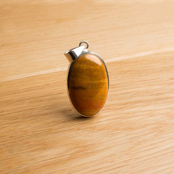 noreen jasper ladies pendant crafted in a sterling silver setting