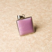 phosphosiderite gemstone pendant crafted in sterling silver
