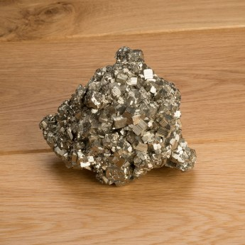 large pyrite mineral with brassy yellow colour