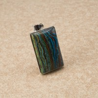 rainbow calsilica pendant crafted in sterling silver