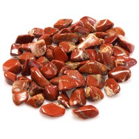 Deep red coloured red jasper tumbled stones
