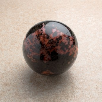 Highly polished large rhodonite sphere