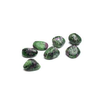 seven ruby zoisite crystals