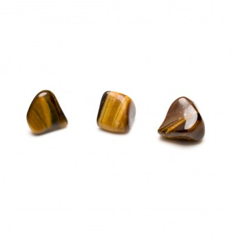 three tigers eye tumbled stones