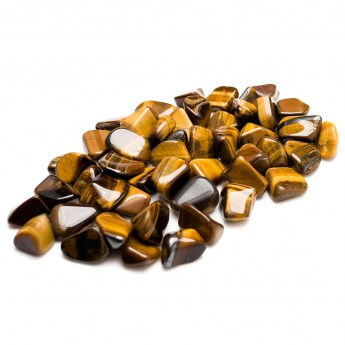 collection of tigers eye tumbled stones