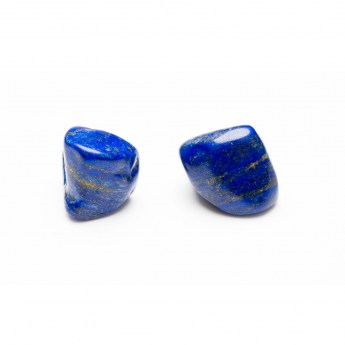 two lapis lazuli stones side by side