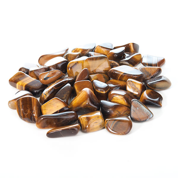 Brown coloured tigers eye tumbled stones